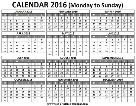 Free 12 Month Calendar Calendar Month Printable