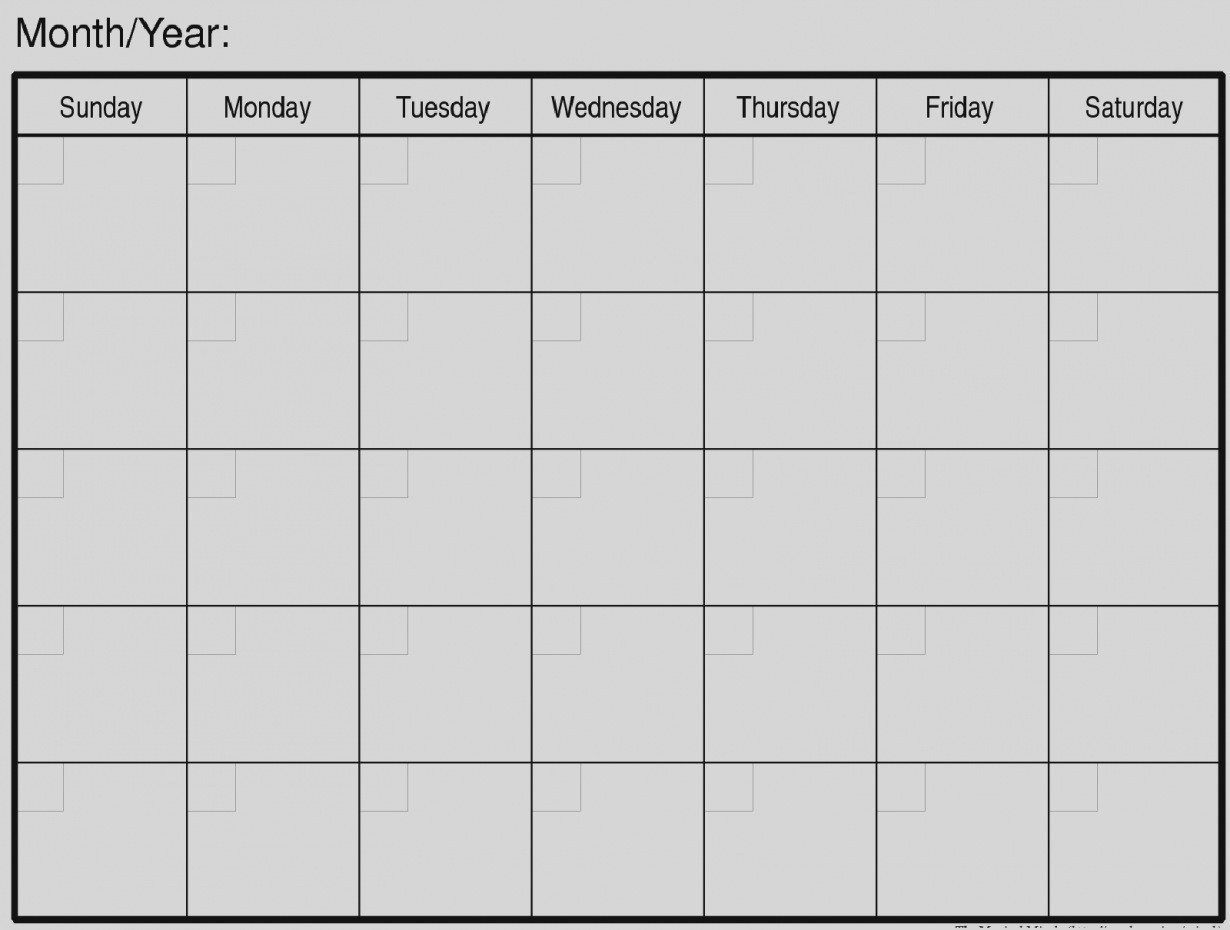 Pictures Of Free Printable Blank Monthly Calendar Template Http Com