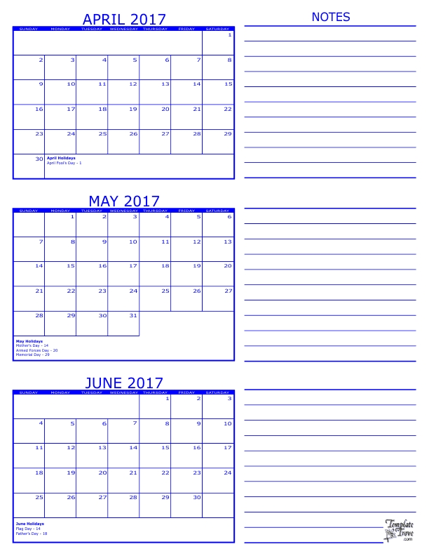 24 Images Of 2017 3 Month Calendar Template May June July