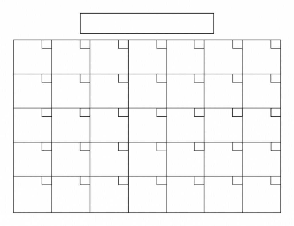 31 Day Blank Calendar Template 2018 Calendar Template Design  Xjb
