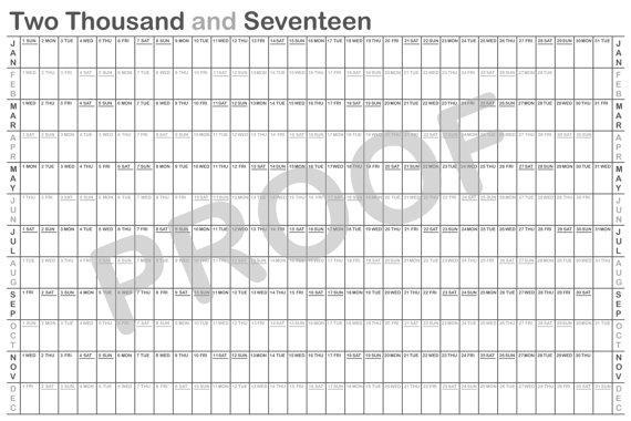 365 Day Calendars 365 Day Calendars 365 Calendars 2017 Printable