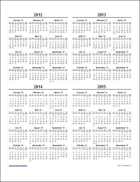 5 Year Calendar Template Image Collections Template Design Free