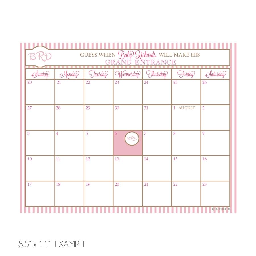 Ba Due Date Calendar Template Calendar Template 2018