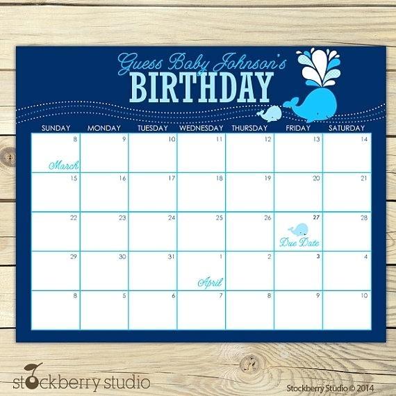 Ba Shower Calendar Template Jjbuilding