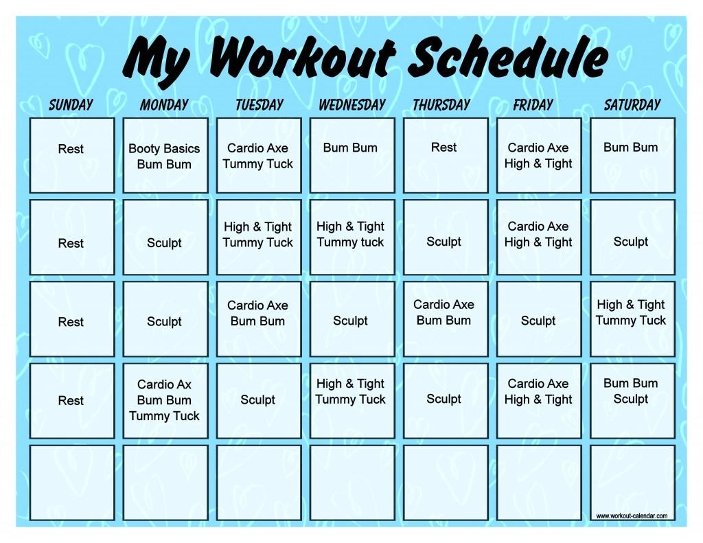 Beachbody Slim In 6 Workout Calendar 2018 Calendar Printable  Xjb
