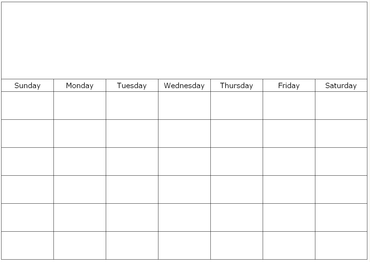 Blank 31 Day Calendar 2018 Printable In Vitafitguide  Xjb
