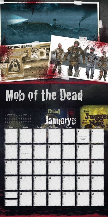 Call Of Duty Zombies Calendars 2018 On Abposters