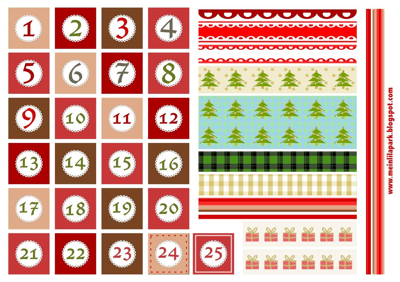 Christmas Numbers Printable Christmas Printables