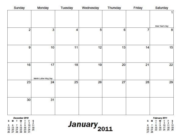 Classic Monthly Printable Calendar Calendarsquick