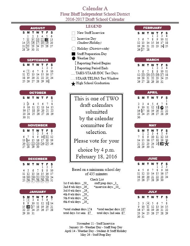 Corpus Christi Isd Calendar Calendar Template 2018