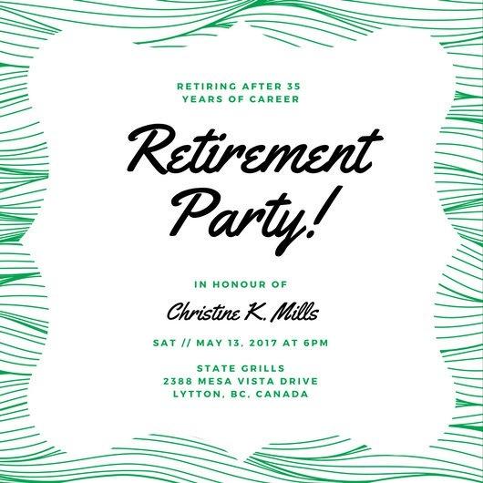 Customize 3998 Retirement Party Invitation Templates Online Canva