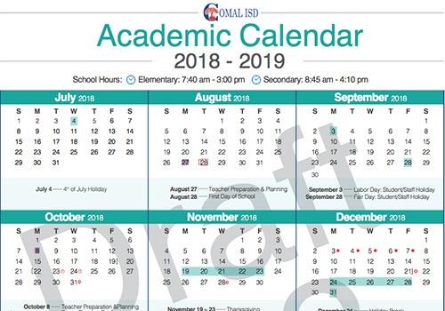 District Proposes Calendar 2a To School Board Valley Ventana