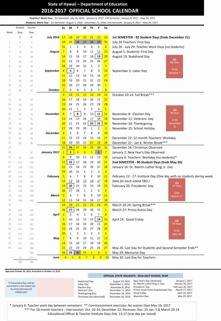 Doe Calendar 2017 Hawaii Calendar 2017 Calendar 2017