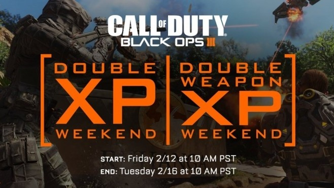 Double Xp Double Weapon Xp Hit Call Of Duty Black Ops 3 This