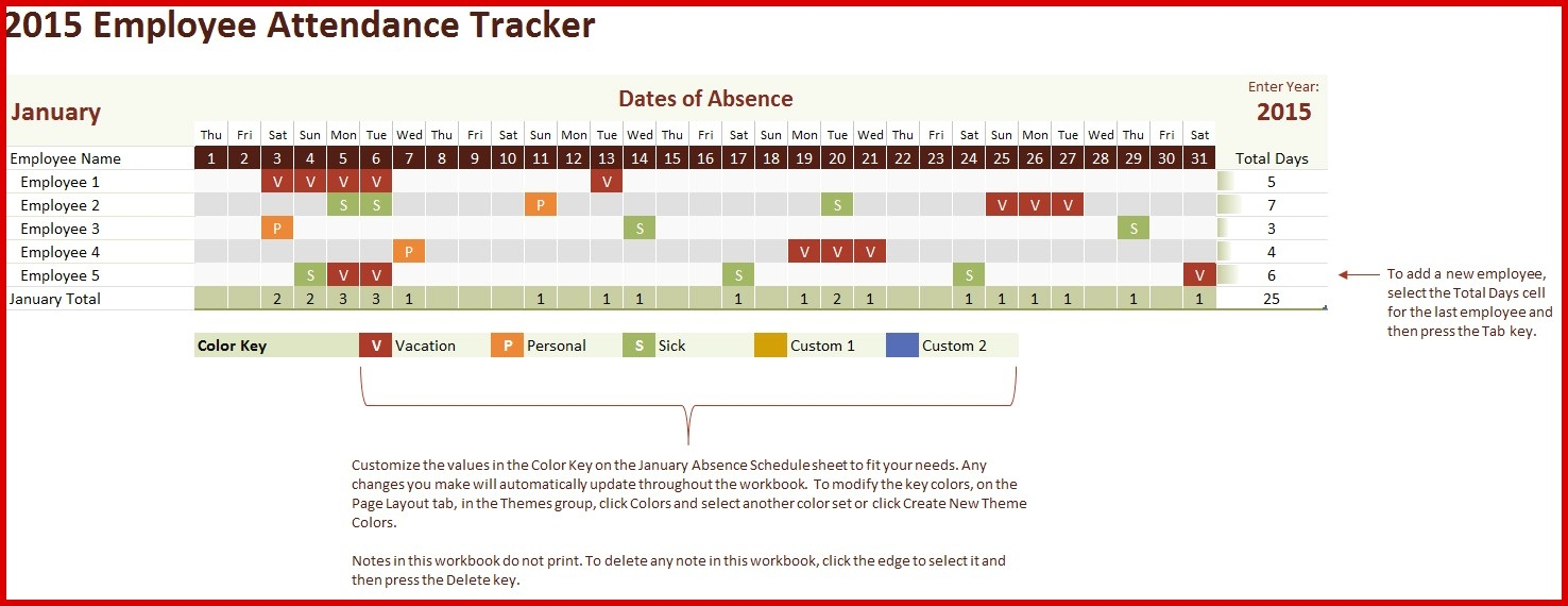 Employee Attendance Spreadsheet Beautiful Absence Tracking Excel  Xjb