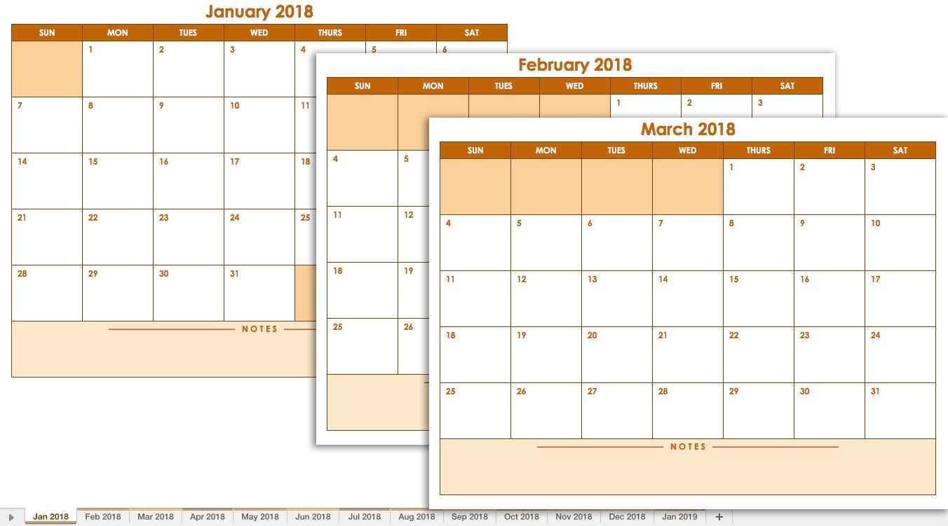 Free Blank Calendar Templates Smartsheet  Xjb