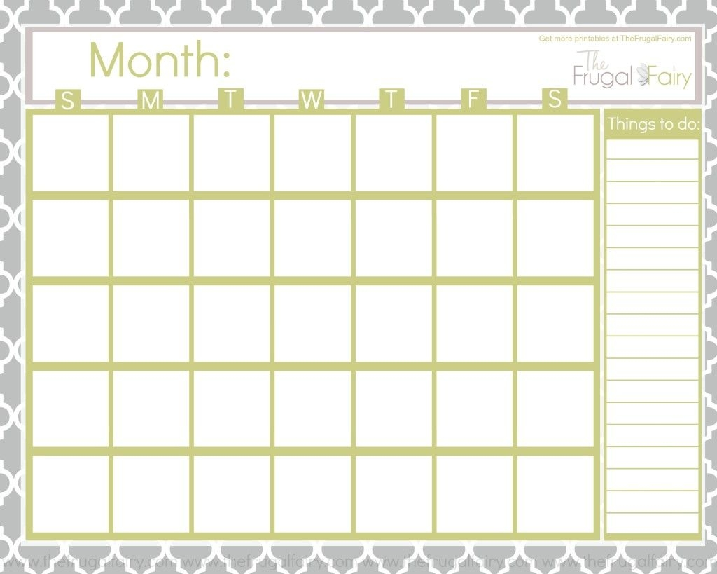 Free Blank Printable Calendar Printables Pinterest Printable