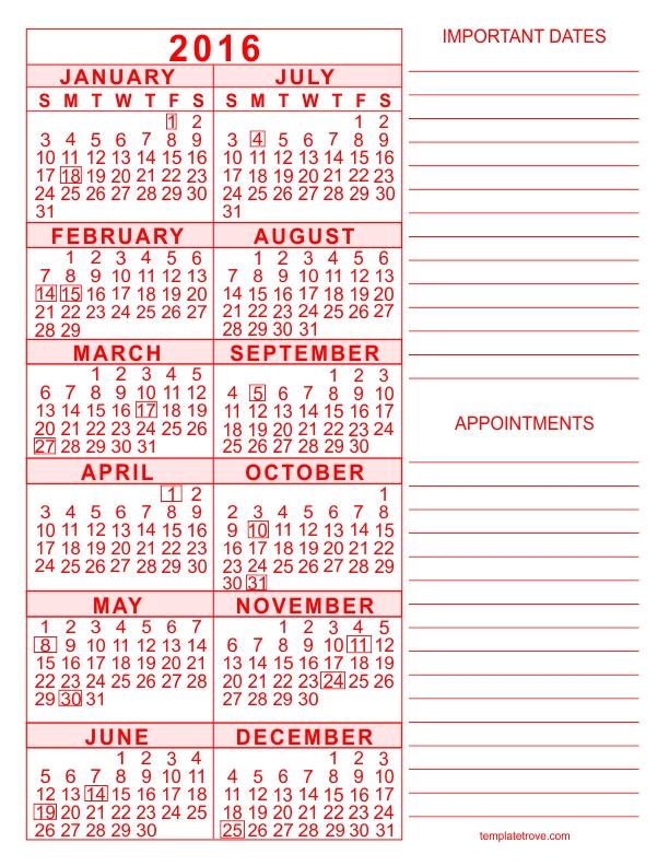 Free Calendar 5