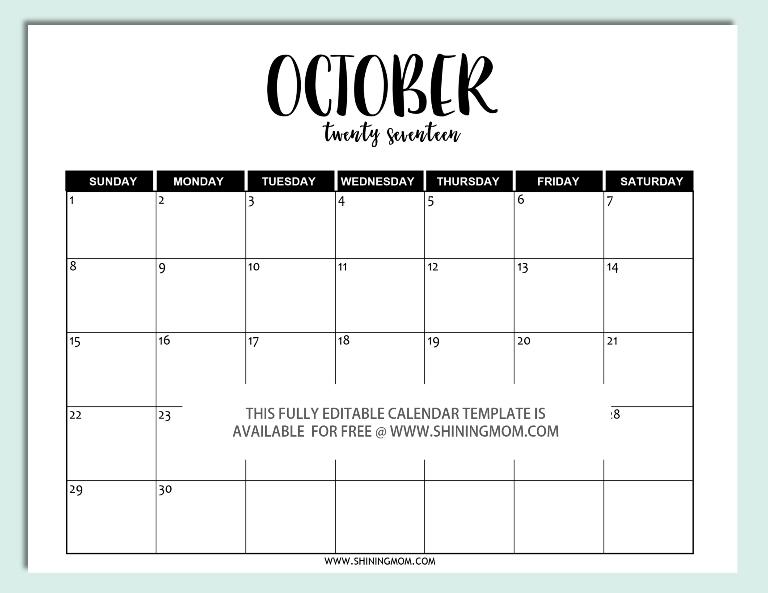 Free Calendar Template Word Calendars You Can Edit Free Printable
