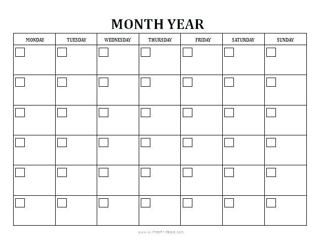 Free Editable Monthly Calendars Tierbrianhenryco