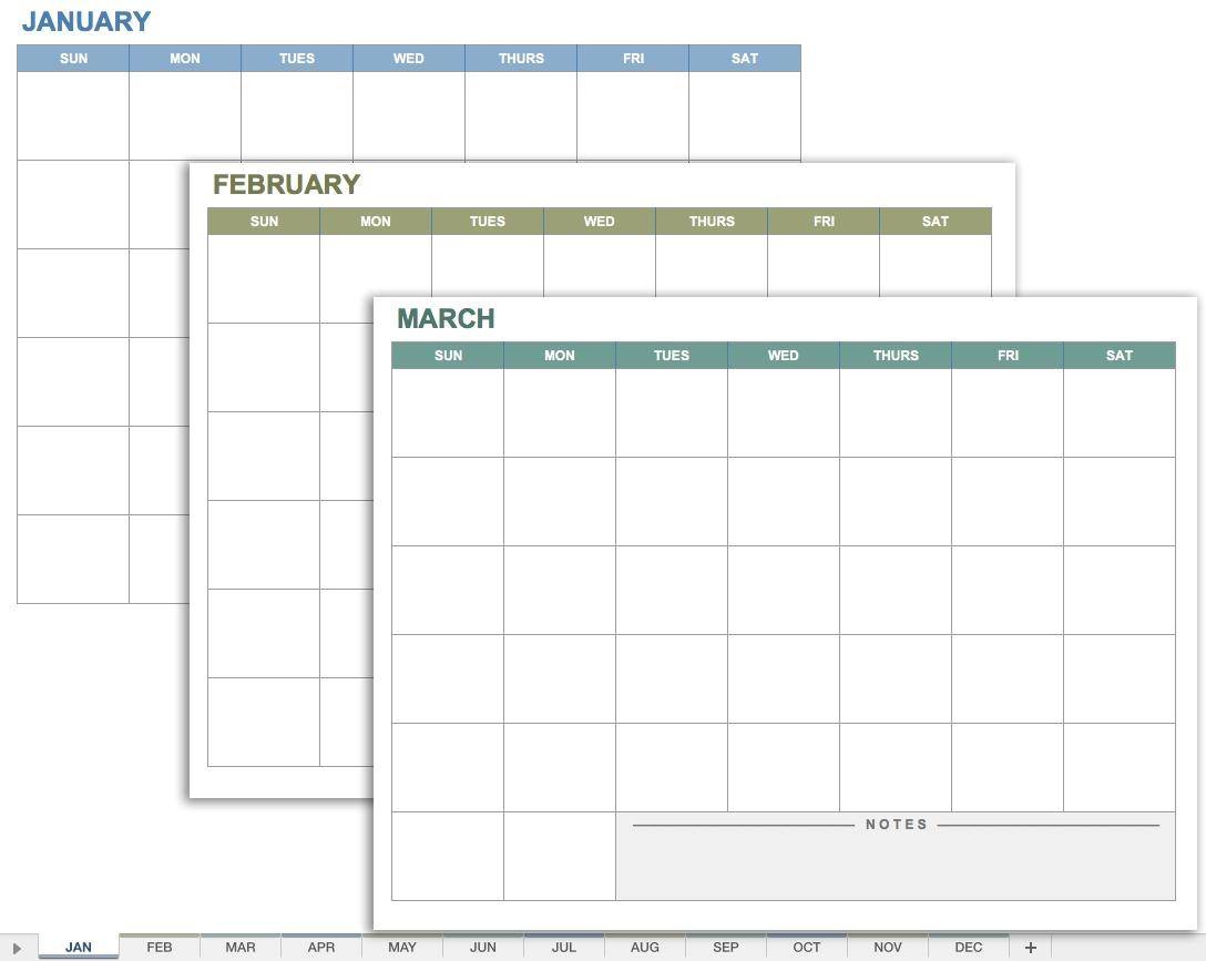 Free Excel Calendar Templates3abry