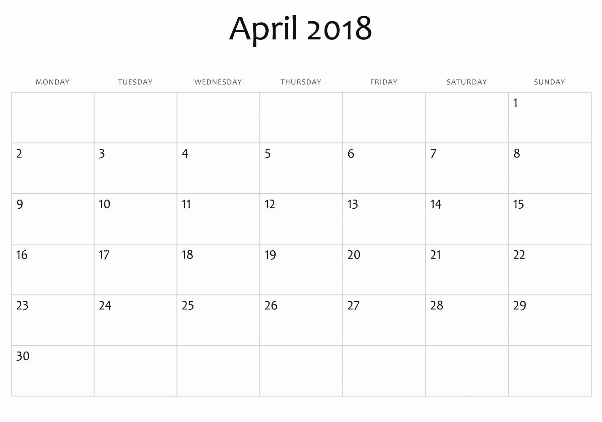 Full Page Calendar Template Beautiful Free Printable Calendar  Xjb