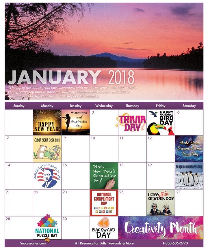 Fun Workplace Holidays Calendar January Holidays Successories