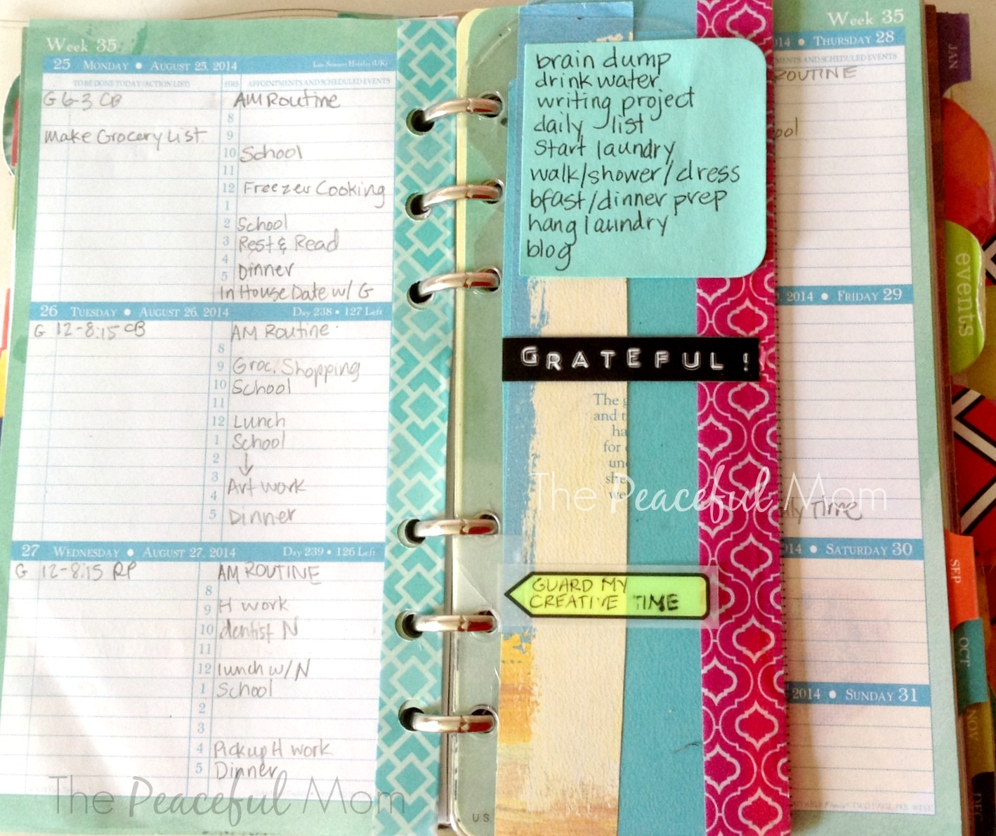 Get Organized My Weekly Intentional Plan Print Your Own 825