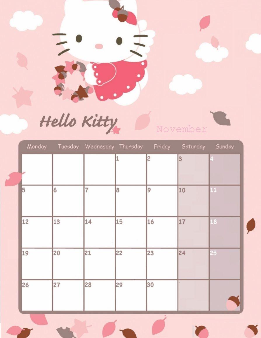 Hello Kitty November 2018 Calendar Calendar 2018 Pinterest  Xjb
