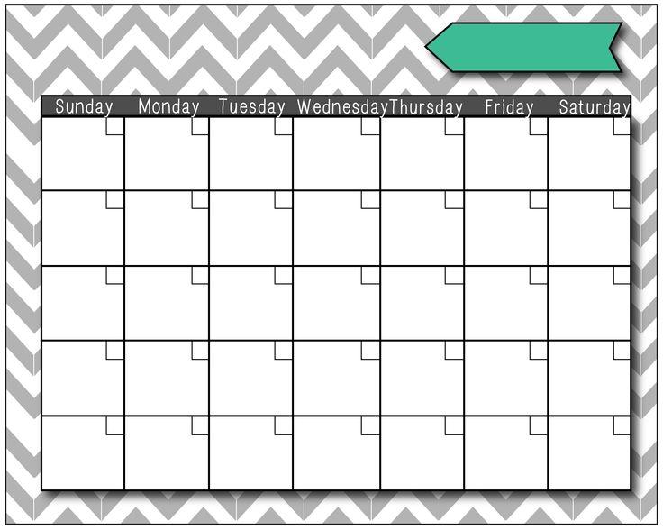 Printable Fill In Calendar Eczasolinfco