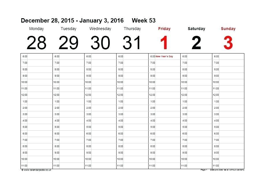 Printable Weekly Calendar Template Literals Java Giancarlosopo