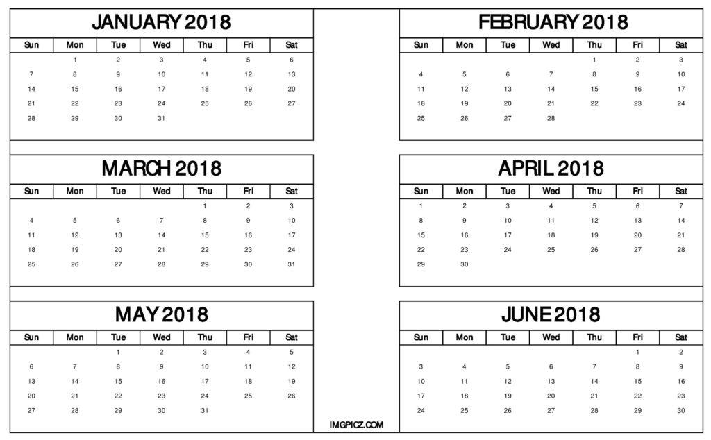 Six Month Calendar Template Takethemic
