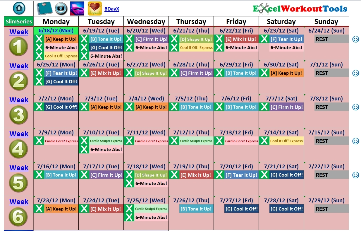 Slim In 6 Calendar Free Calendar Calendar 2018 Printable  Xjb