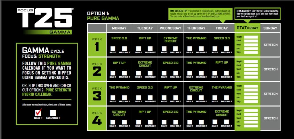 T25 Gamma Meal Plan Week 4 Pinterest Beachbody Workout And