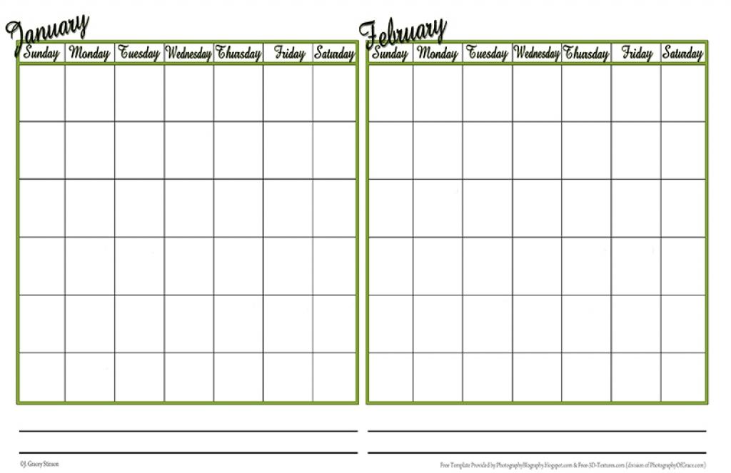 Two Month Calendar Template 2 Month Calendar 2017 Template Calendar