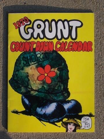 Vietnam War Era 1970 Grunt Magazine Countdown Calendar 32666028