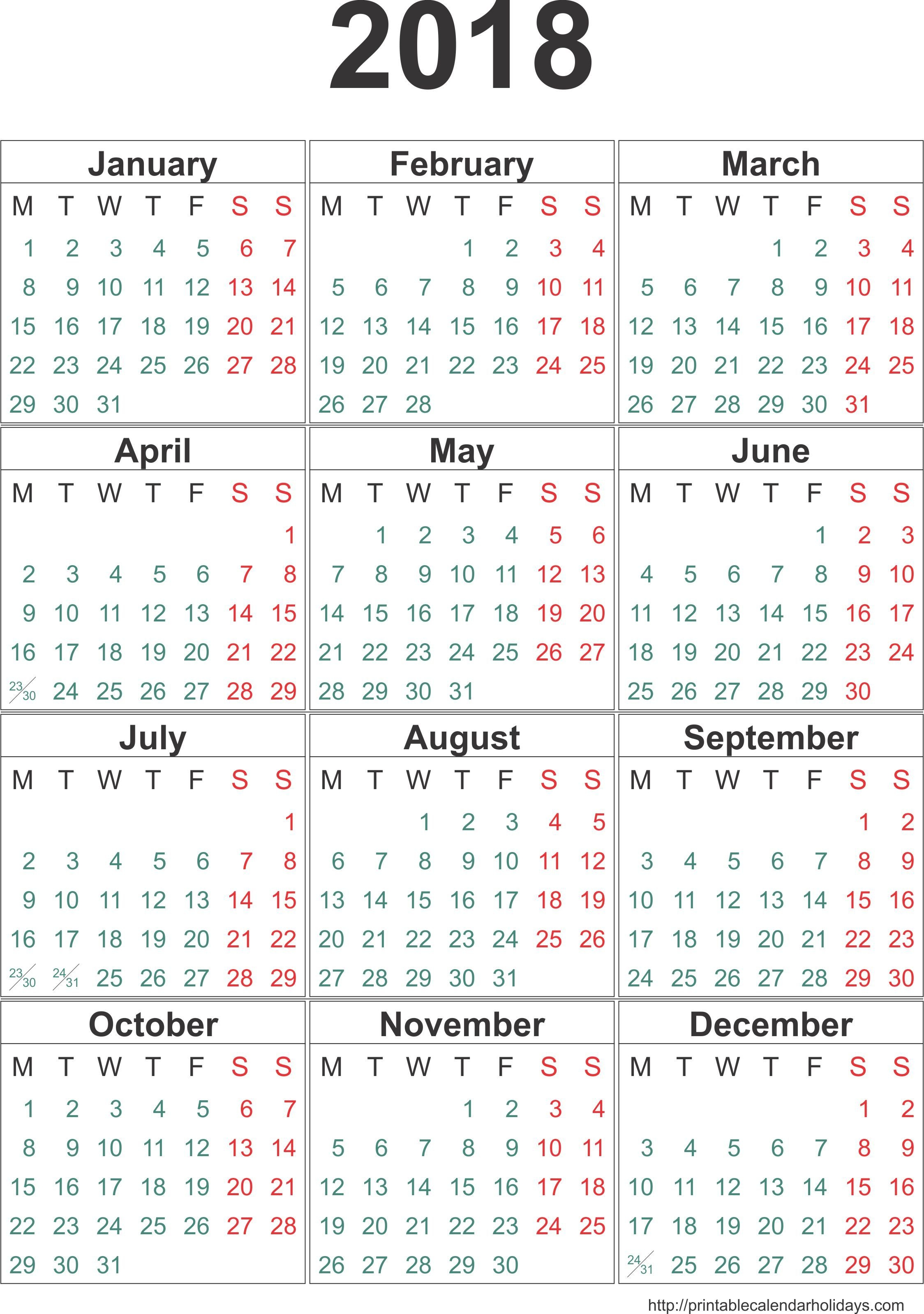 Yearly Calendar 2018 2017 Calendar Template Happy New Year