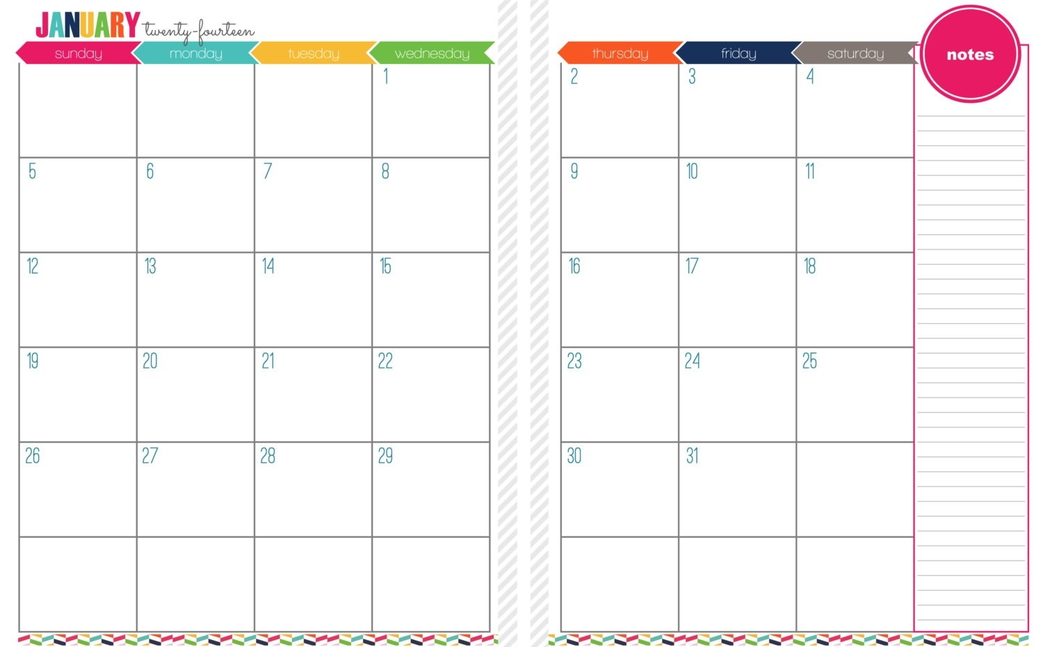 2 Page Printable Calendar 7 Best Of Printable Month Two Pages