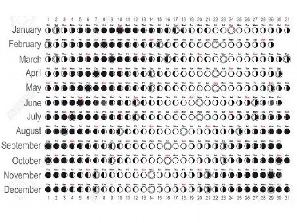 2018 Moon Phases Calendar Printable 2018 Calendar Template Design3abry