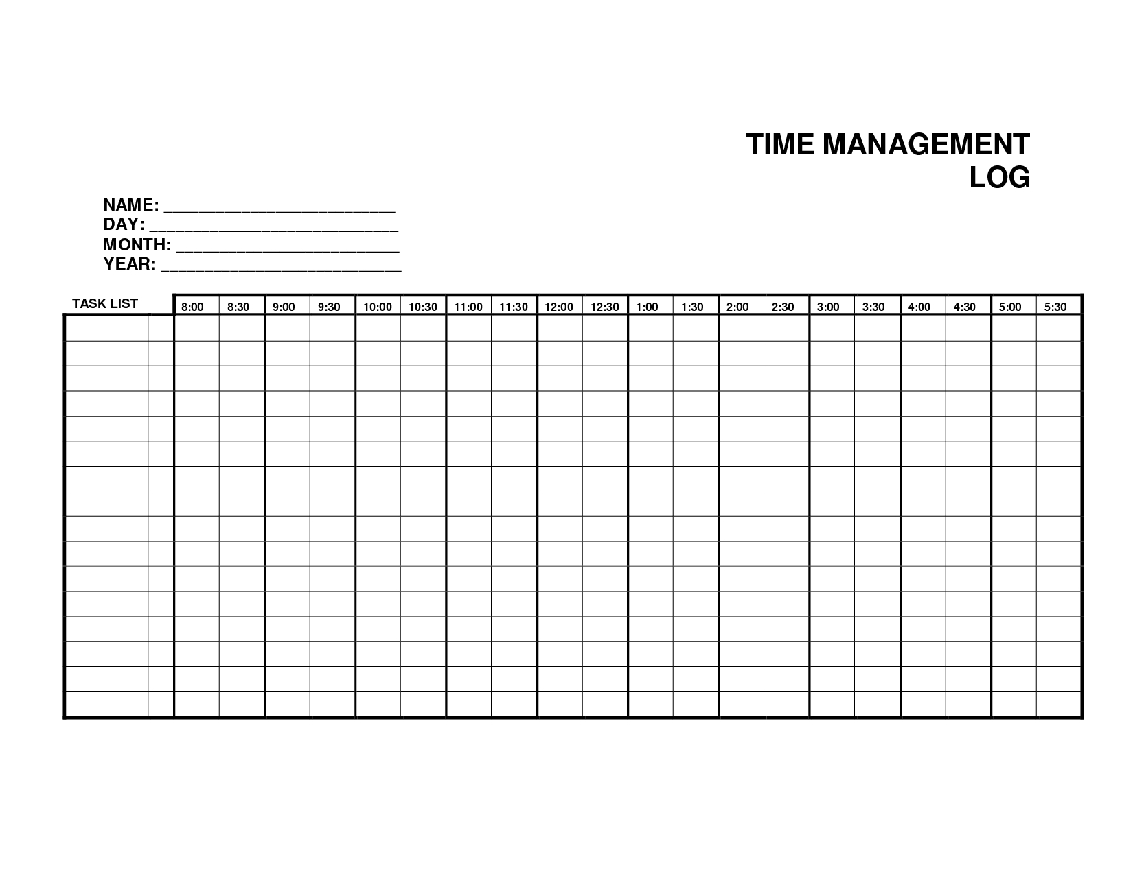 24 Images Of Monthly Time Management Template Leseriail