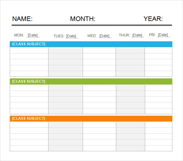 5 Day Calendar Template Word Kleobeachfixco