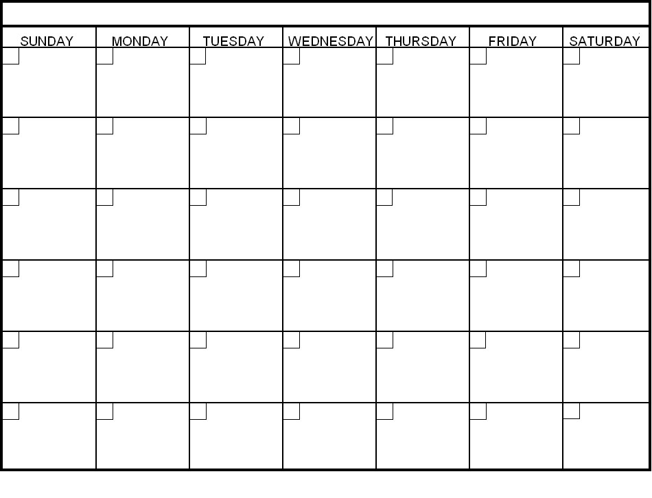 Free Printable Blank Calendars To Fill In :-Free Calendar ...