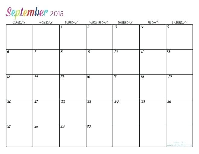 7 Best Images Of Large Printable Calendar Blank Template 2018
