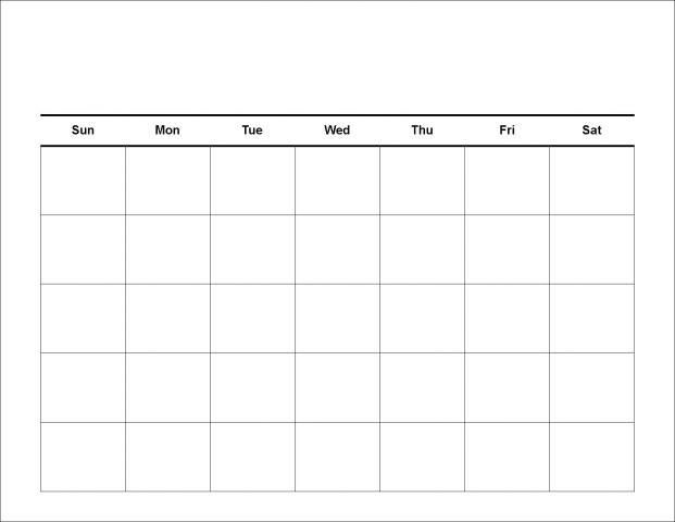 Blank 30 Day Calendar Print Out Blank Calendar Pinterest Blank