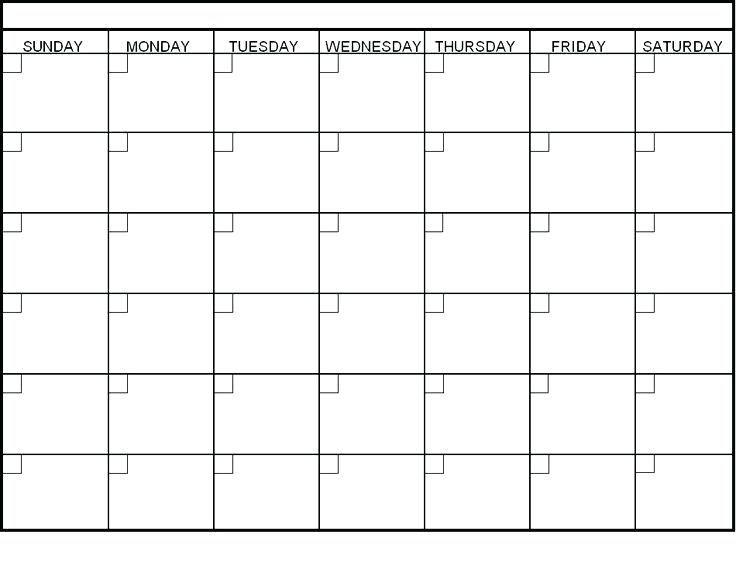 Blank Monthly Calendar Best Month Images On Four Year Printable For