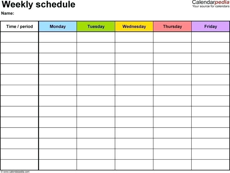 Block Calendar Template Blank Monthly Google Docs Big Printable