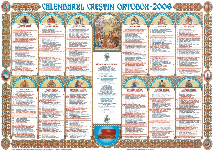Calendar Ortodox 2016 Mare Srbtoare Religioas Cruce Roie N
