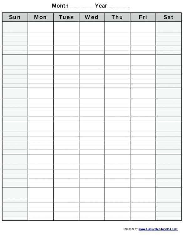 Calendar Template With Lines Goalgoodwinmetalsco