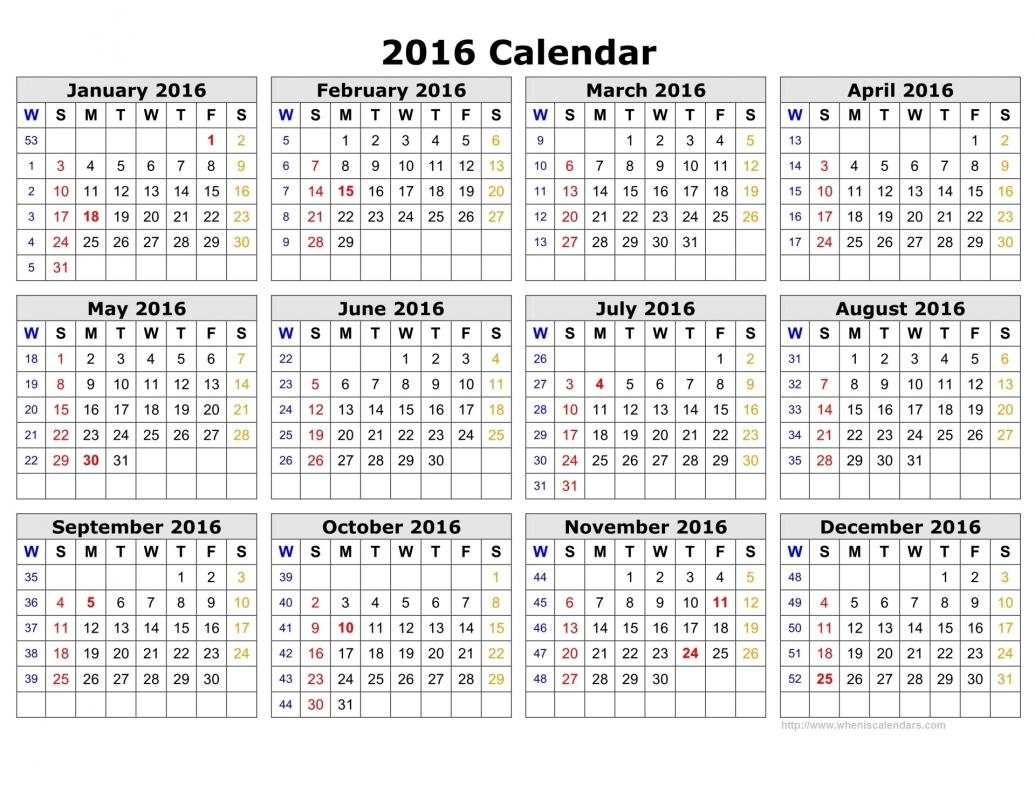 Calendars 2016 Printable Calendar Exceptional 2019 With Week Numbers
