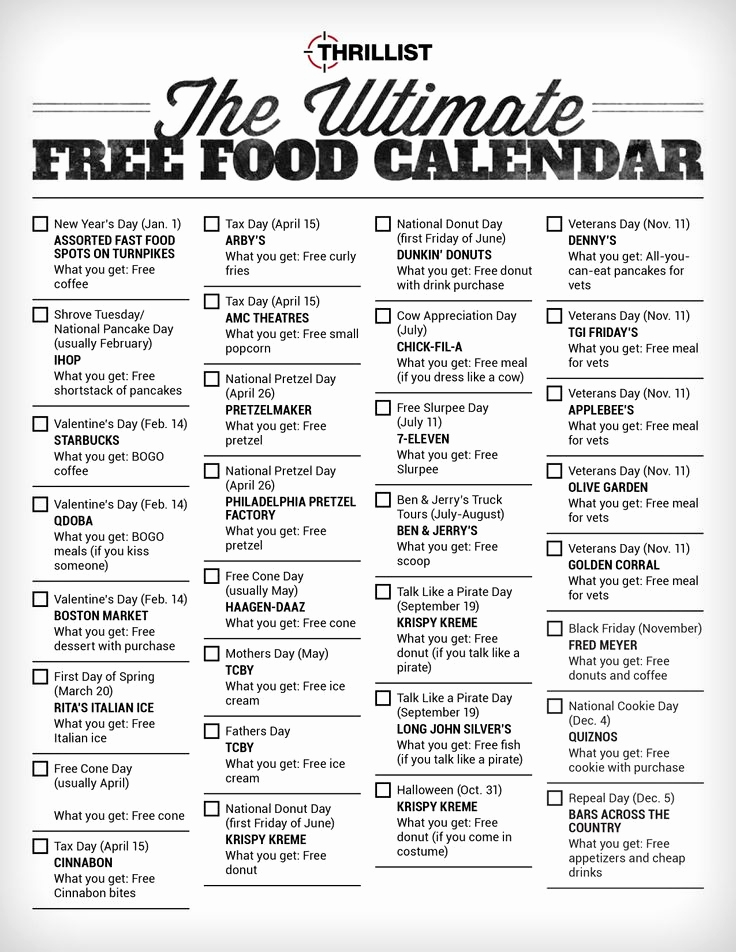 Food Day Calendar Search Results For National Food Day Calendar